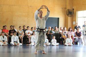 Centring improves adults Taekwondo performance